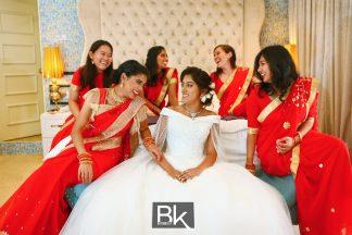 winsen-and-cynthia, church wedding, penang wedding, fresh flower, clock, flower girl, candids, thali, guests, rose flower, wedding ring, gold ring, gold thali, heart shape thali, wedding gowns, wedding shoe, bride getting ready, bridesmate