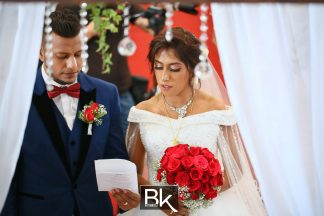 winsen-and-cynthia, church wedding, penang wedding, fresh flower, clock, flower girl, candids, thali, guests